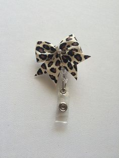 Little Bow Retractable Name Badge Holder by GlitterScopes on Etsy