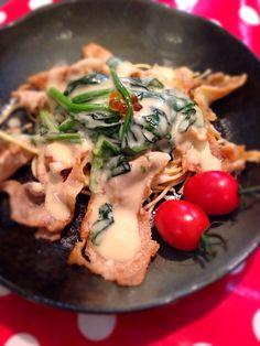 Pork cream pasta ☆ ぶた肉クリームパスタ❤️