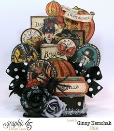 How to Make a Steampunk Spells 3D ATC Box with a tutorial by Ginny #Graphic45