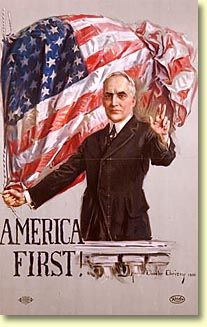 Campaign poster created by Ohio artist Howard Chandler Christy for the 1920 presidential campaign of Warren G. Harding