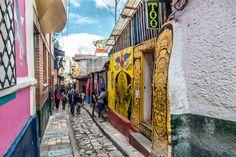 Bogota colours; La Candelaria