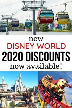 Click for the new Disney World 2020 discounts released for travel from January 1, 2020 to April 25th, 2020. Room only discounts plus Disney World package discounts. Free Dining for Kids plus a gift card offer and save up to 25% on Disney World hotels. Jump on your Disney World vacation and Disney planning for your 2020 vacation and do Disney World on a budget! #disneyworld2020 #disneyworldonabudget #disneyworlddiscounts