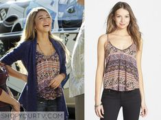 Haley Dunphy (Sarah Hyland) wears this printed cami in this week's episode of Modern Family.