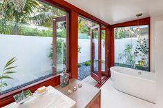 The serene bathroom. HGTV.com