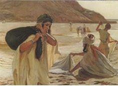 Artiste/peintre Emile Vernet-lecompte Femme Bérbère Algerie