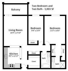 2br 2ba floorplan