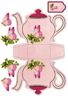 Butterfly Teapot Box Card on Craftsuprint designed by Diane Furniss – Schmetterling Teekanne Box Karte auf Craftsuprint von Diane Furniss – Diy Gift Box, Diy Box, Diy Gifts, Diy And Crafts, Crafts For Kids, Paper Crafts, Alice In Wonderland Party, Mad Hatter Tea, Paper Dolls
