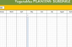 Vegetable Planting Schedule Template For Gardening To Make Sure Each Plant Received The Care They Need