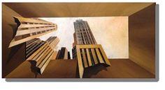 "Saatchi Art Artist Eka Peradze; Painting, ""New York City. 3D. 50x100cm"" #art"