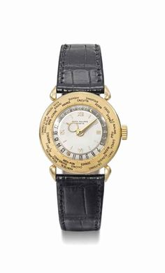 Patek Philippe. A fine, rare and unusual 18K gold world time wristwatch, manufactured in 1946 #ChristiesWatches