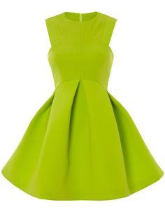57fe07a61eb Green Round Neck Sleeveless Ruffle Flare Dress US 23.41  ashleniqapproved  Mini Skater Dress