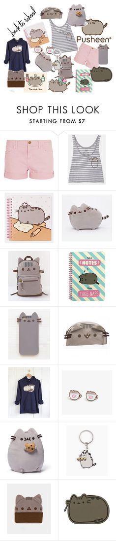 """#PVxPusheen"" by sunnielovesturtles on Polyvore featuring Current/Elliott, Pusheen, Gund, contestentry and PVxPusheen"