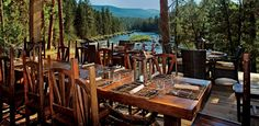 Dining with a view at River Camp.