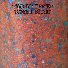 "Tawdry Terrier ""Sunset Bitch"" #macro shot. Available at http://www.etsy.com/shop/TawdryTerrier #nailpolish #indienailpolish"