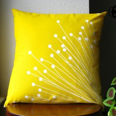Britta (Yellow) Pillow Cover. $25.00, via Etsy.