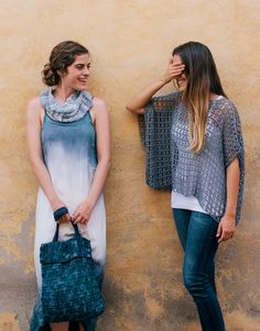 Revista principiantes 3 Primavera / Verano | 16: Mujer Poncho | Lila azulado