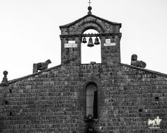 Old Church in Viterbo / Italy, Records say that this small medieval church existed already in it is known for an episode which occurred on March 1271 and which is mentioned by Dante Medieval, Tower Bridge, Decir No, Ads, Black And White, Travel, Collection, Italia, Fotografia