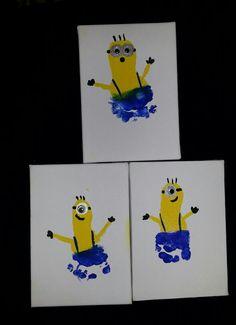 Despicable Me. Minions. Minion footprint art.