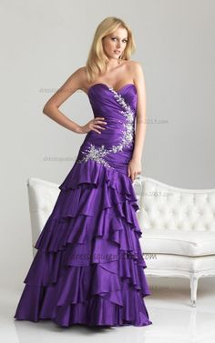 Purple Stain Fitted Bodice Beaded Elegant Prom Dresses 2013 [Beaded Elegant Purple] - $174.00 : Queen Dresses 2013 | Formal Dresses, Homecoming Dresses ,Prom Dresses @ dressesqueen2013.com