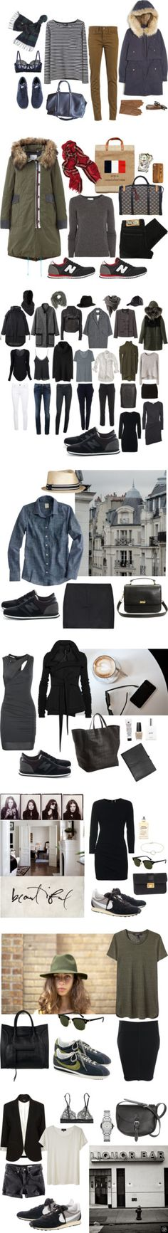 outfits with sneakers(capsule wardrobe ideas Mode Outfits, Casual Outfits, Fashion Outfits, Womens Fashion, Street Looks, Street Style, Fall Winter Outfits, Autumn Winter Fashion, Mode Style