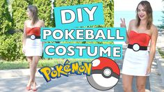 Easy Pokeball Pokemon Costume for Halloween! Using items that are already in your closet and from the dollar store.