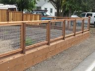 how to build a fence with hog wire - Google Search