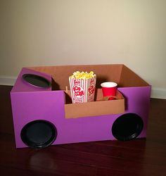 Items similar to Drive -in-movie Kit, movie night, movie night party,box cars, s. Movie Night Snacks, Movie Night Party, Family Movie Night, Family Movies, Party Time, Cardboard Car, Backyard Movie Nights, Night Driving, Party In A Box
