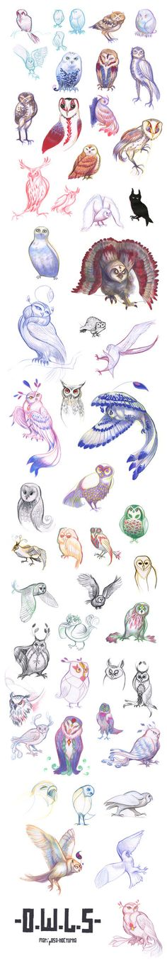 tumblr sketchdump : owl design by mariposa-nocturna on deviantART ★★★ Find More inspiration @creativeelc ★★★