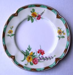 Vintage Johnson Brothers China Plate - Ontwood Pattern Pereek