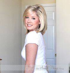 The Small Things Blog: Flat Ironed Straight  ~great tips and ideas for thin hair and styling!