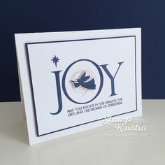 Clean and Simple Christmas nativity card featuring the Joyful Nativity Stamp sety by Stampin' Up! - created by Kristin Kortonick