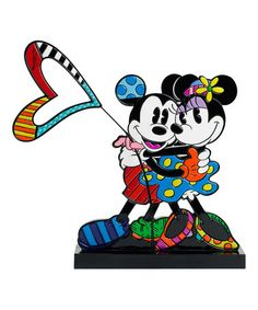 Loving this Disney by Britto Mickey & Minnie Love Figure on #zulily! #zulilyfinds