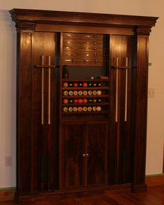 Splendid Pool Cue Cabinet Plans From Maple Wood Boards