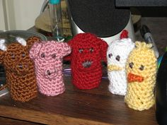 free pattern  Finger Puppets by Flibbertigibbet Knitter, via Flickr
