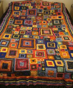 Babette Blanket -- I love this crazy mash of colours. :)
