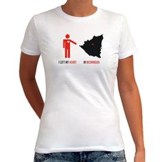 I Left My Heart in Nicaragua Map Women T-Shirt ( 17) ❤ liked 032d03b85c7