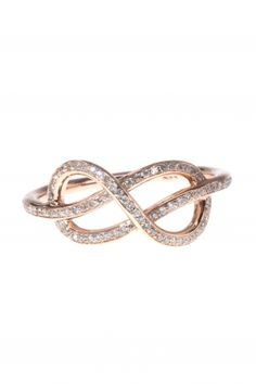 this delightful rose gold #infinity ring is complete with swirling designs replete with sparkling #diamonds I NEWONE-SHOP.COM