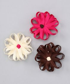 Take a look at this Fall Fun Flower Clip Set by Hair Flair on #zulily today!