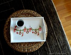 Christmas serving tray lap tray christmas gift by LinaECreations