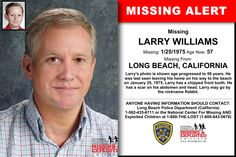 LARRY WILLIAMS, Age Now: 57, Missing: 01/25/1975. Missing From LONG BEACH, CA. ANYONE HAVING INFORMATION SHOULD CONTACT: Long Beach Police Department (California) 1-562-435-6711.