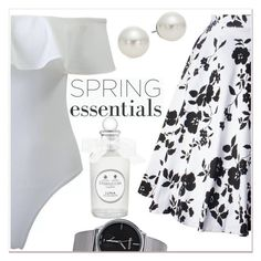 """""""Spring perfume"""" by mycherryblossom ❤ liked on Polyvore featuring AK Anne Klein and vintage"""