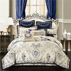 HAOXIONG-ZHANG European Luxury Satin Jacquard Four-Piece Cotton Embroidery Quaternary Seasons Universal Health Without Formaldehyde Bedclothes (Size : M) Queen Bedding Sets, Duvet Sets, Luxury Bed Sheets, Western Bedding, Bedclothes, Make Your Bed, Cool Beds, Bed Sheet Sets, Quilt Cover