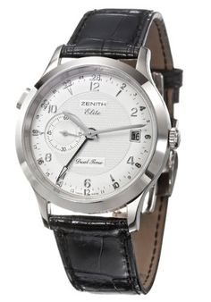 Zenith Class Dual Time Mens Automatic Watch 65 1125 682 02 C490