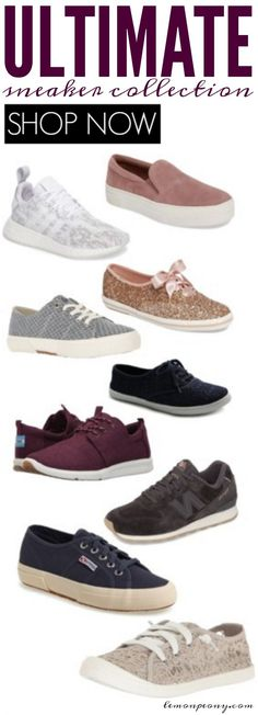 Ultimate Sneaker Collection for Women! Top Styles and Trends for Women's Sneakers for Everyday, Lazy Casual Style!