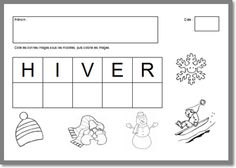 Exercice sur l'hiver niveau PS French Classroom, Petite Section, Fish Print, Teaching French, Winter Activities, Kindergarten, Homeschool, How To Plan, Education