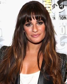 Can my bangs look as good as Lea Michele's? Super cute!!