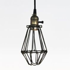 Ecopower Vintage Style Industrial Opening and Closing Hanging Light Pendant Wire Cage Lamp Guard Ecopower Lighting Wire Pendant Light, Pendant Lighting, Industrial Lighting, Industrial Style, Cage Light, Work Lights, Antique Metal, Hanging Lights, Hanging Lamps