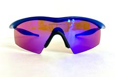 Vintage 1996 Oakley M Frame New Blue Sunglasses – Full Set Including Red Iridium Strike and Black Iridium RX Heater – New Old Stock // #vintageoakley #vintagesunglasses