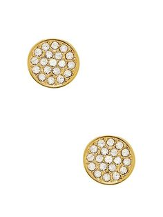 Dainty Sparklers Pave Disc Studs