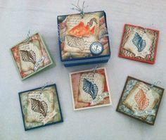 Absolutely gorgeous card set,By the Tide stamp set. 3x3 card box